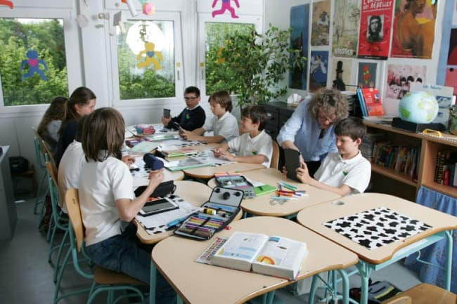 урок в школе Pre Fleuri