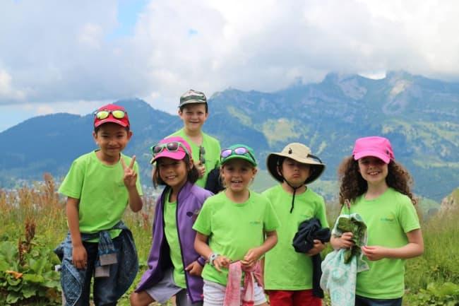 Студенты Pre Fleuri (Виллар) в горах