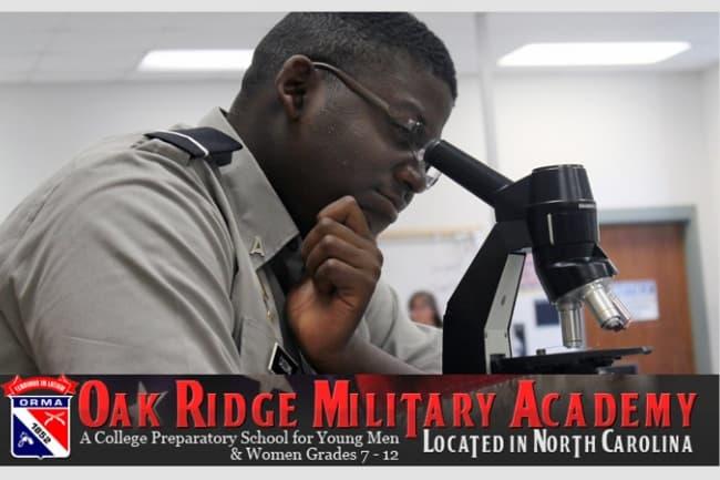 Обучение в The Oak Ridge Military Academy
