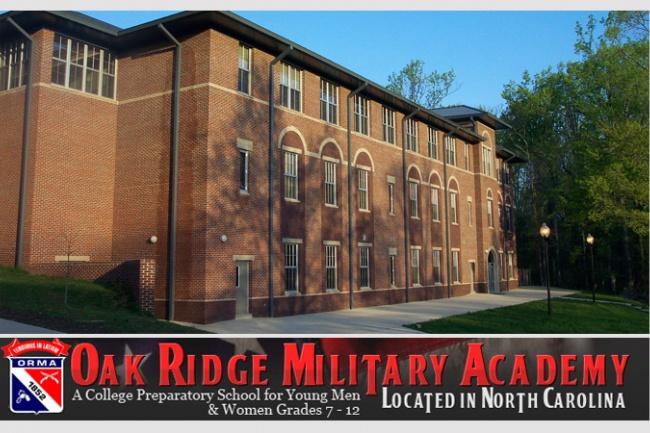 Подготовка к поступлению в колледжи США The Oak Ridge Military Academy