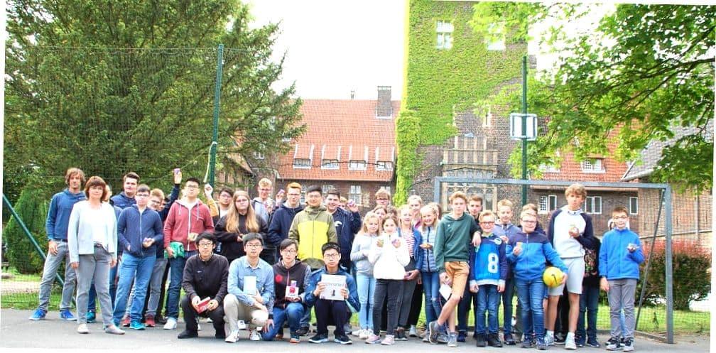 Школьники в Landschulheim Schloss Heessen