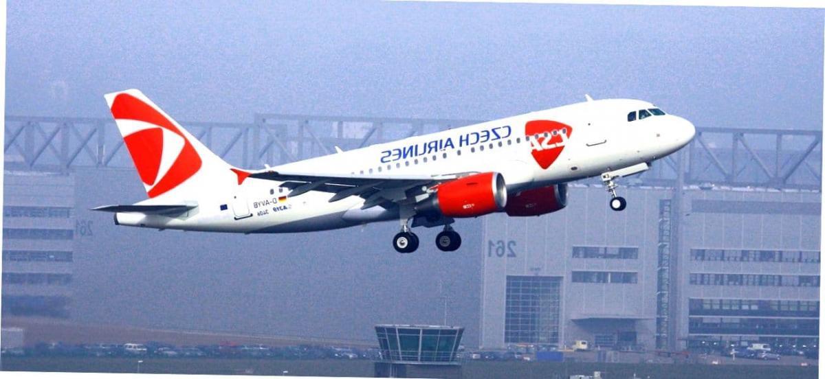 Самолет чешской авиакомпании.