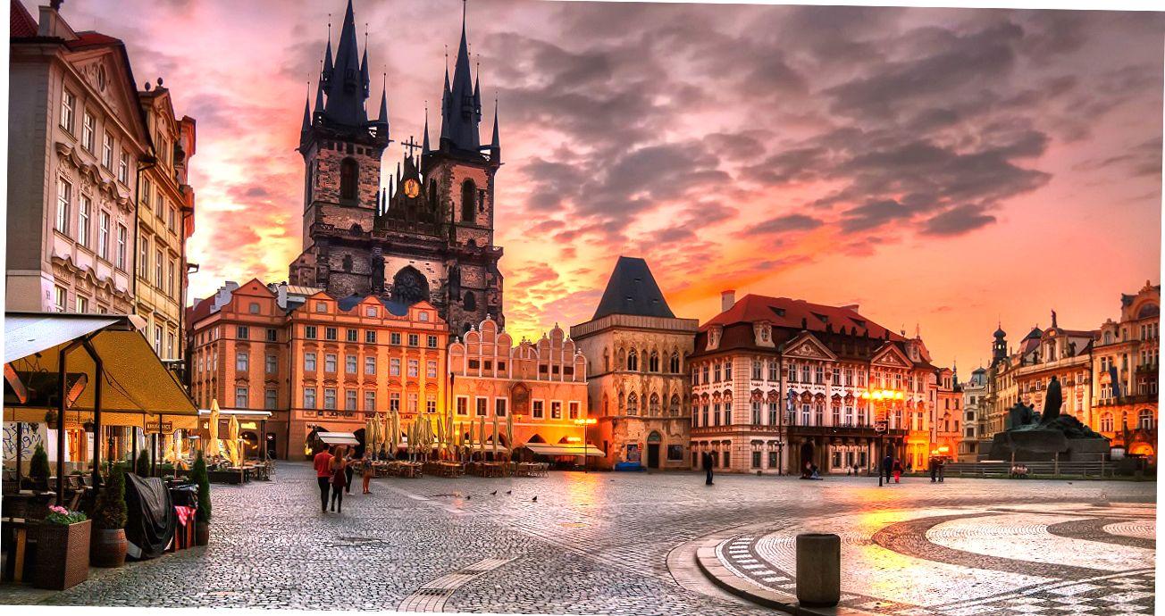 Центральная площадь Праги.