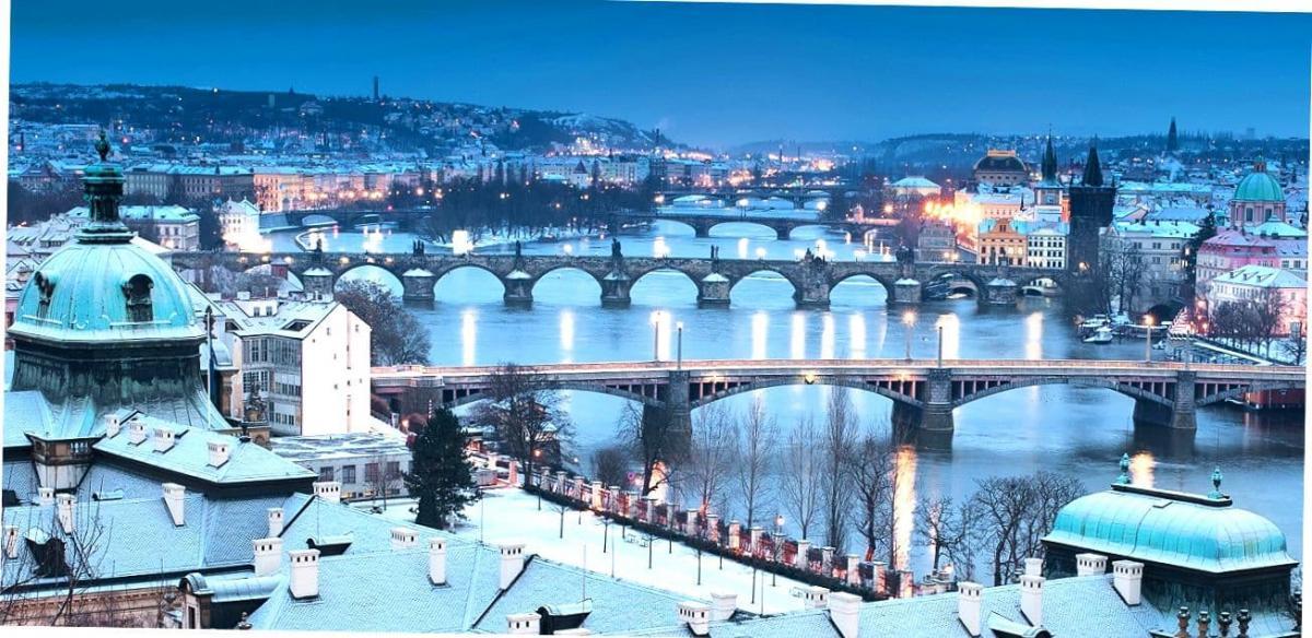 Зима в Праге.