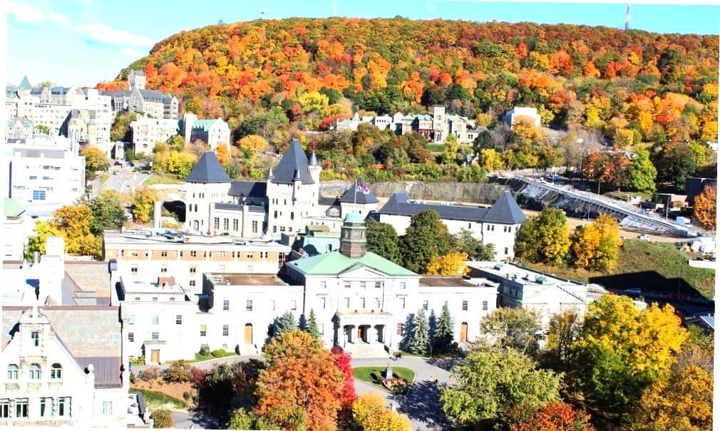 Вид на Квебек.
